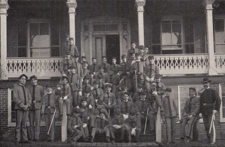 1903 SMA boarding cadets with Commandant William G. Kable standing far right.