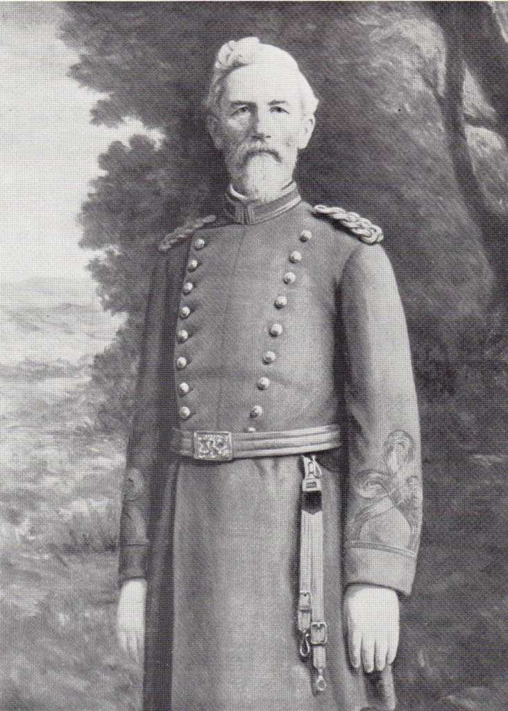 Captain W.H. Kable circa 1900 in a Confederate Uniform