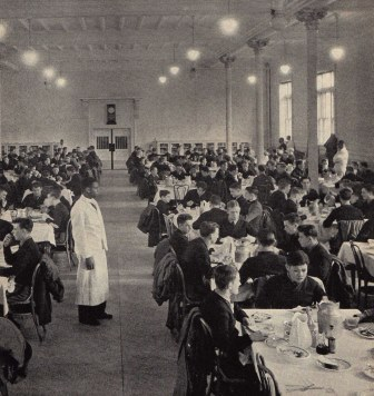 Interior of Mess Hall circa 1935