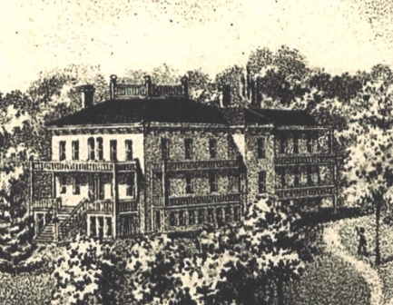 Pencil Drawing of Alby House circa 1890