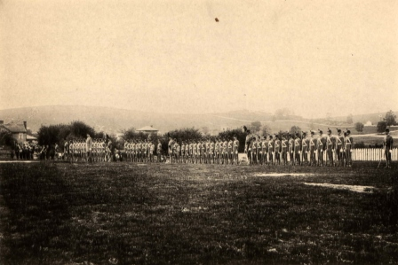 Cadet Corps on Parade Ground circa 1889