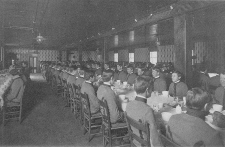 Interior of First Mess Hall circa 1906