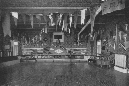 Gym Decorated for Military Hop circa 1912