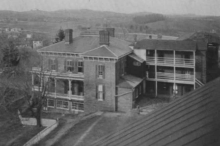 Alby House from Cadet Barracks showing Wing circa 1903
