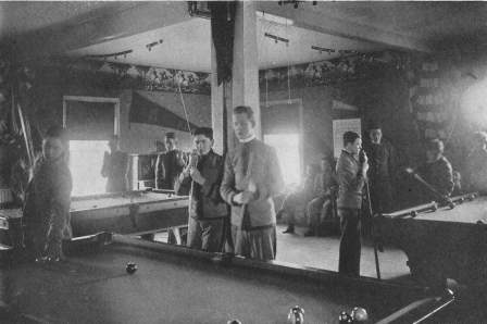 Pool room in YMCA Building circa 1912