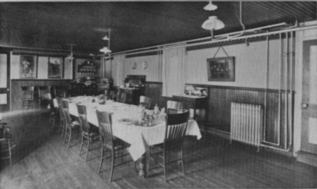 Faculty Dining Room in Wing circa 1905