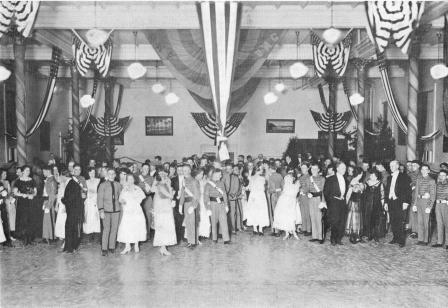 Thanksgiving Dance in Mess Hall circa 1917