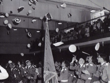 Commencement in Large Gym circa 1966