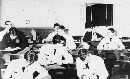 Cadets in Physics Laboratory circa 1970