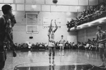 Basketball game in Large Gym circa 1970