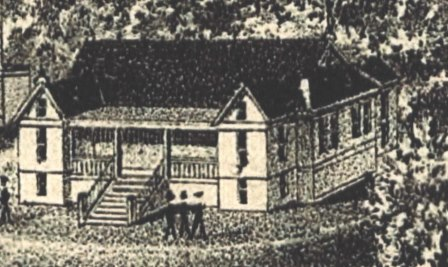 Pencil Drawing of Classroom Building circa 1885