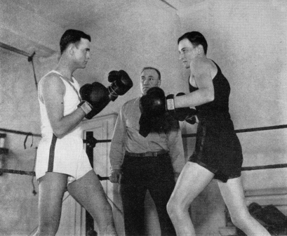 Boxing in Small Gym in basement circa 1934