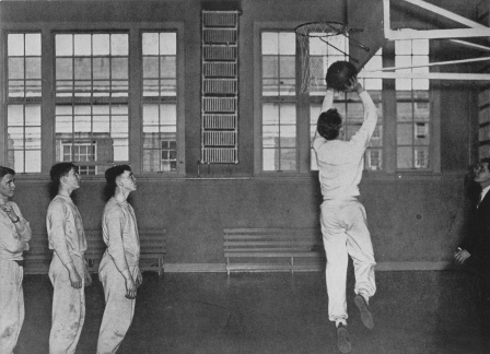 Basketball Game in top floor gym circa 1935