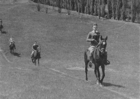 Cadets Riding Horses on Echols Fieldcirca 1934