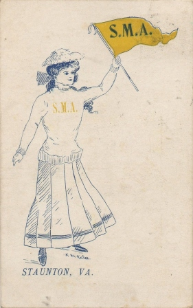 1909 Girl With Pennant